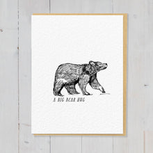 Downloadable Bear greetings card