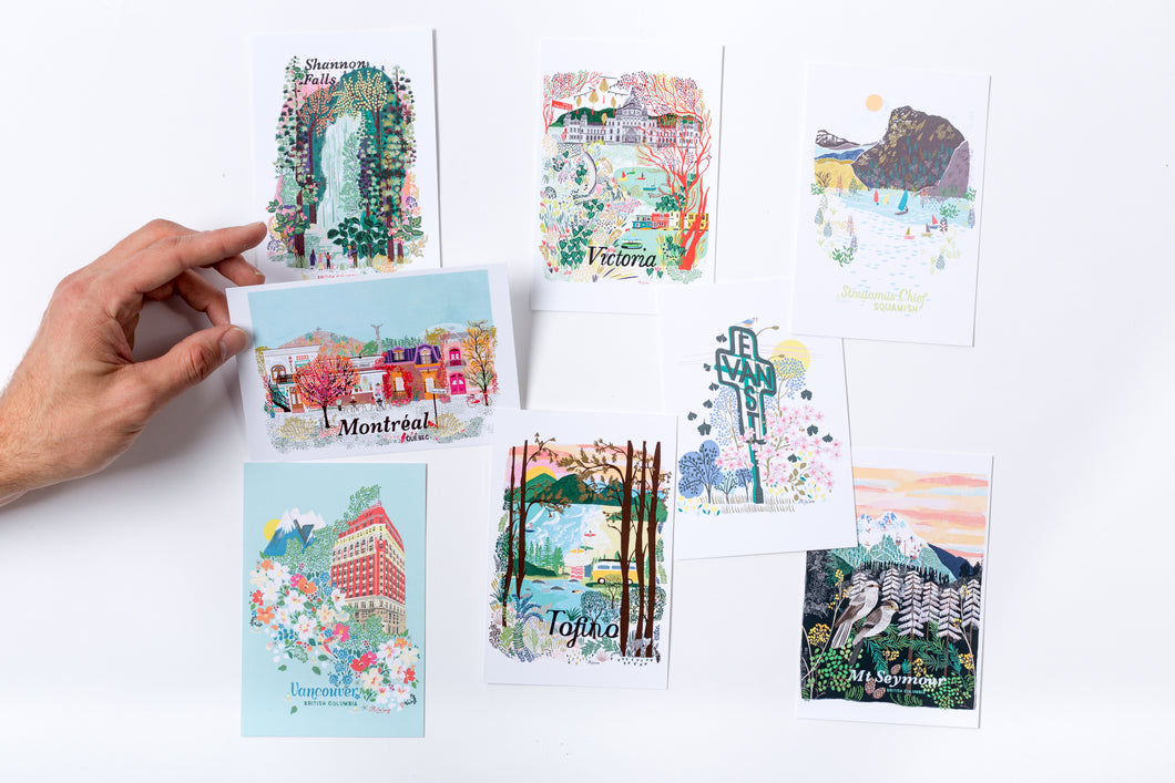 Customised pack of 8 postcards