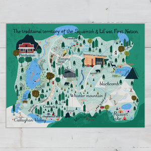 Whistler Map Art Print