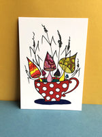 A Cup of Mushrooms Card