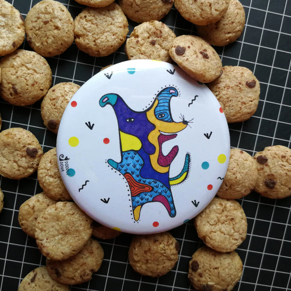 Happy Dog Pocket Mirror
