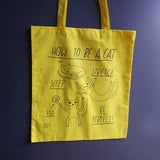 How To Be A Cat Tote Bag Yellow