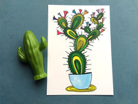 Beaming Cactus Card