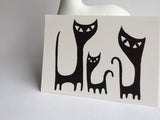 Black Cats Postcard