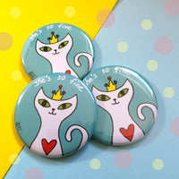 Cat Princess Pocket Mirror