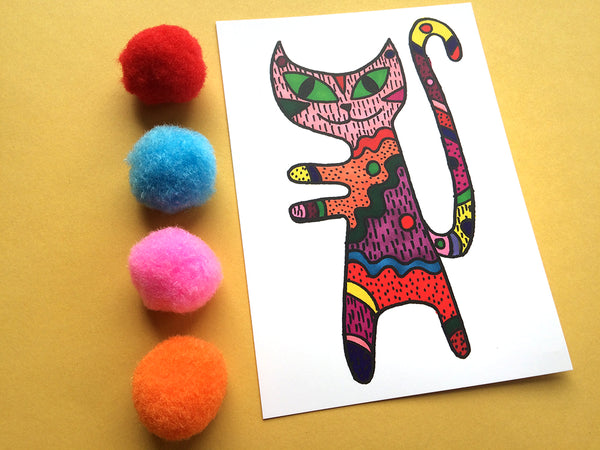Cat Hugs Postcard