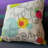 Cats And Bubbles Cushion