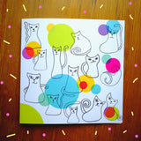 Cats And Bubbles Greeting Card