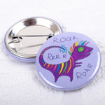 Rainbow Dinosaur Badge