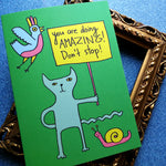 You Are Doing Amazing Greeting Card