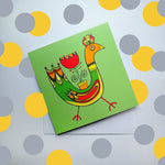 Cool Chick Greeting Card