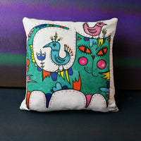 Green Cat Cushion