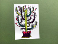 Happy Cactus Postcard
