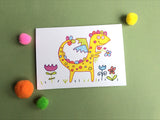 Yellow Dragon Greeting Card