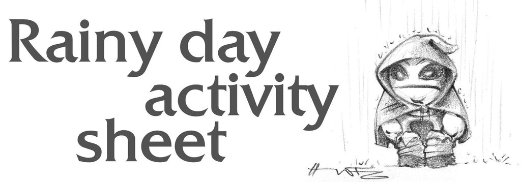 Rainy day activity sheet