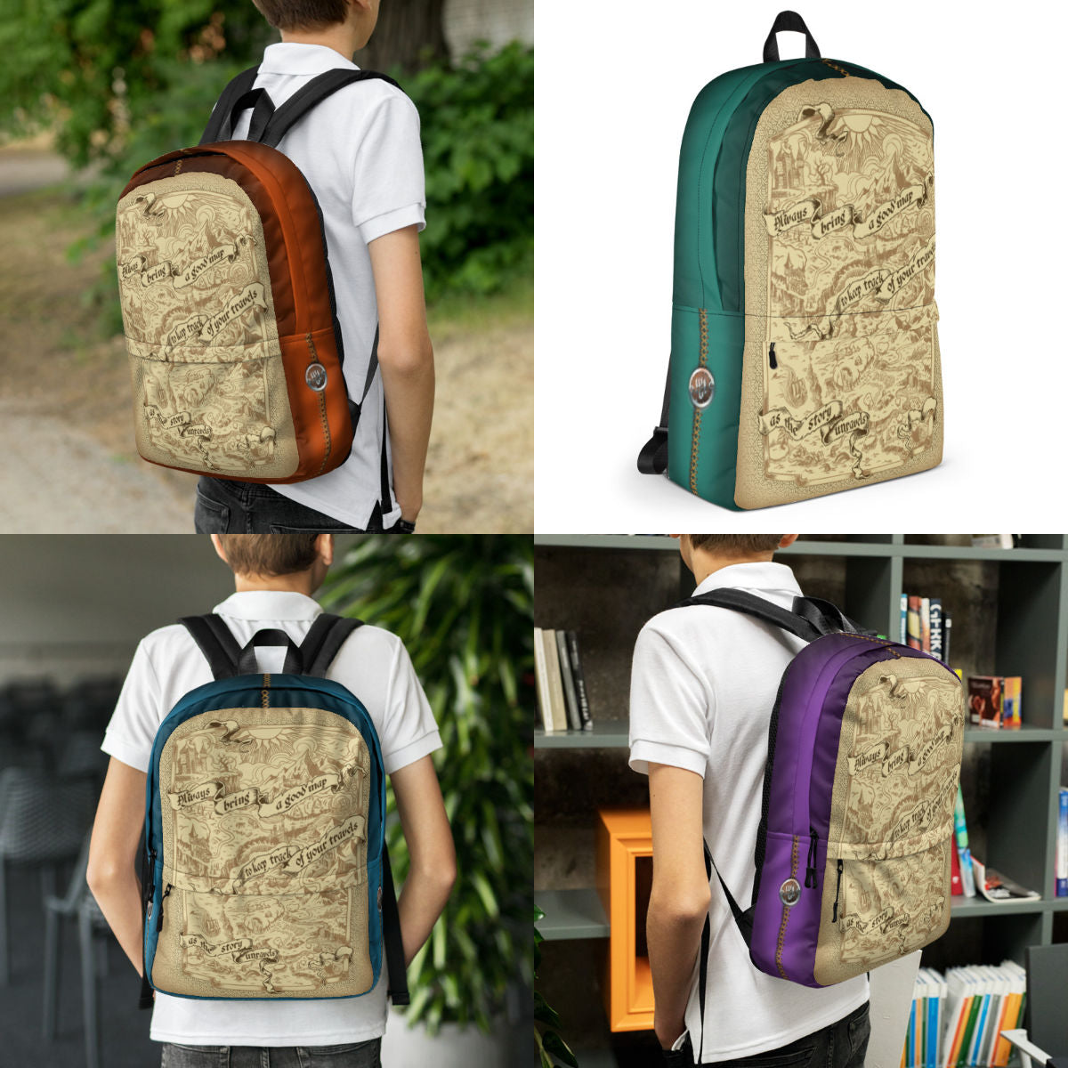 Adventure Map Backpack