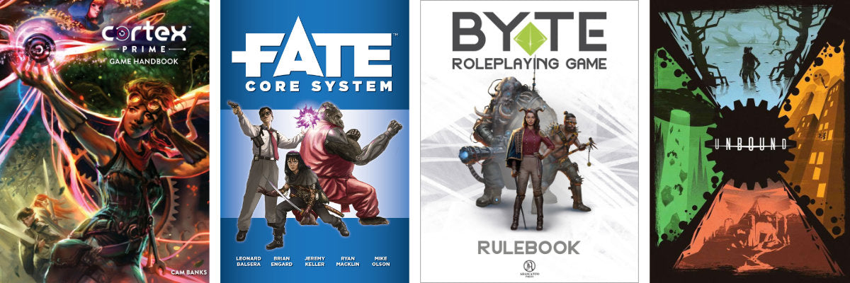 Cortex, Fate, Byte & Unbound - Generic RPG Systems