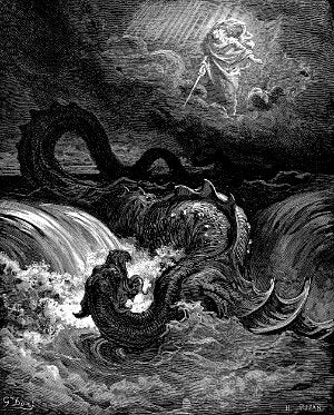The Destruction of Leviathan (1865) by Gustave Doré