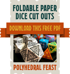 Foldable Paper Dice Cut Outs PDF