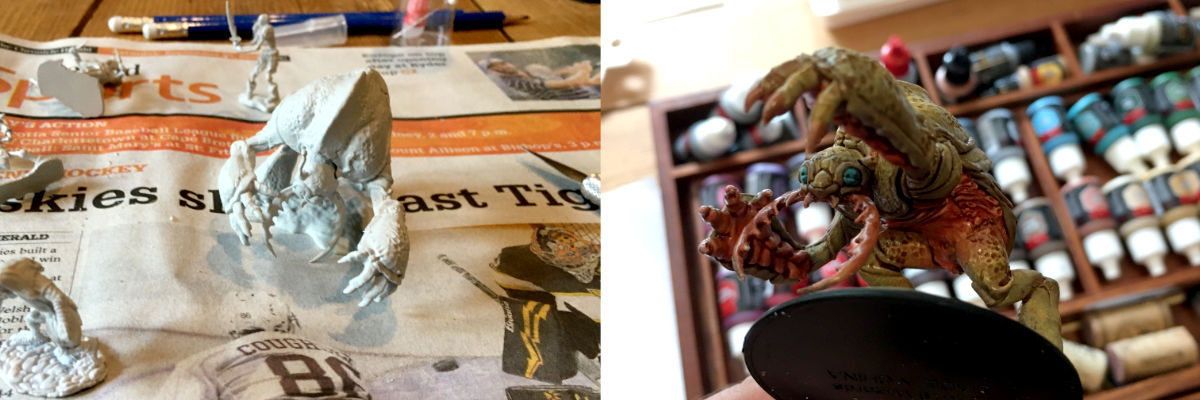 Miniature painting: before and after