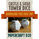 Castle & Siege Tower D20 Papercraft