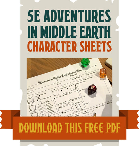 Character Sheets for Adventures in Middle-Earth 5E
