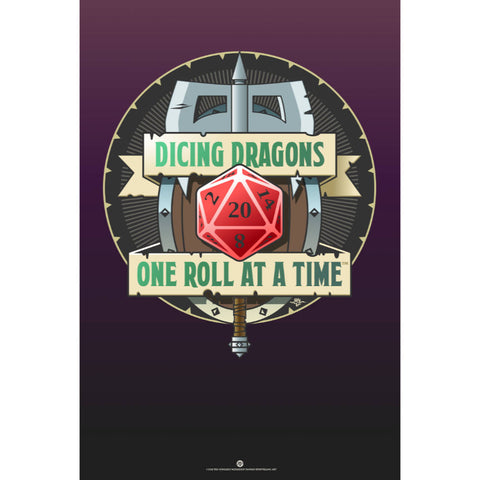 Dicing Dragons Poster (Modern)