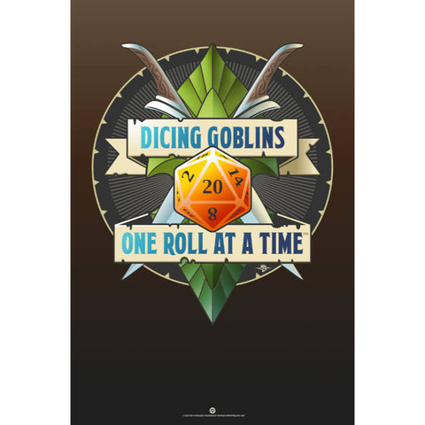 Dicing Goblins Poster (Modern)