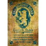 Golden Bear Tavern Rules Poster