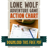 Lone Wolf Adventure Game Action Chart