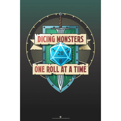 Dicing Monsters Poster (Modern)