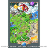 World of Adventuring Pixel Art Poster