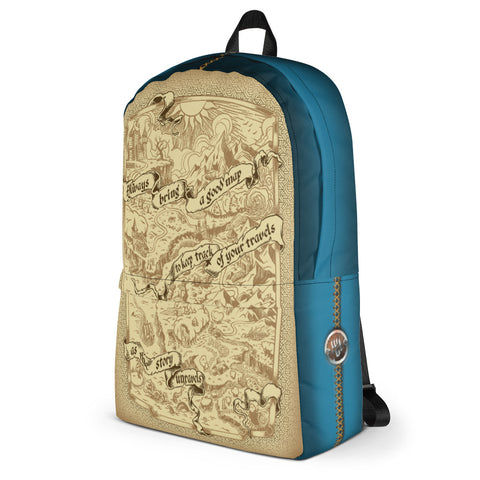 Adventure Map Backpack - Blue
