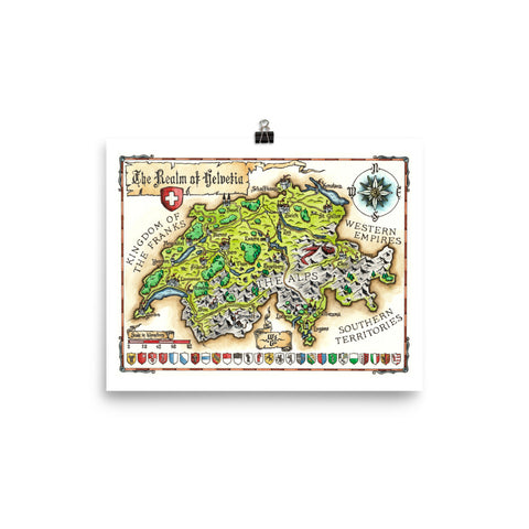 Fantasy Map of Switzerland