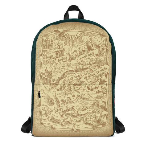 Adventure Map Backpack - Green