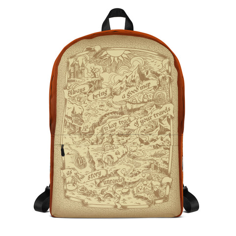 Adventure Map Backpack - Red
