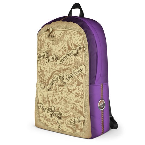 Adventure Map Backpack - Purple