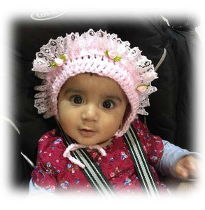 Baby Girl Bonnets / Traditional Baby Bonnets / Baby Hats