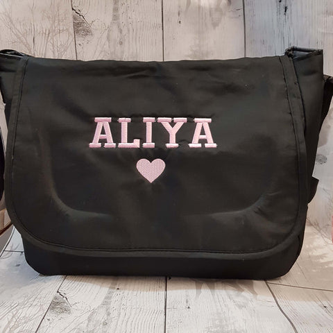 black baby changing bag
