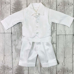 baby boy white christening suit