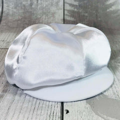 baby boy christening hat cap white