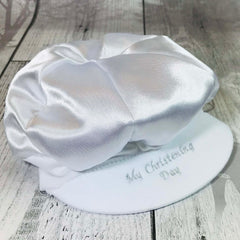 baby boy christening hat My Christening Day embroidery