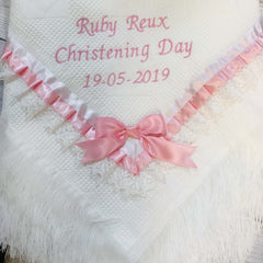 personalised Christening Day Shawl