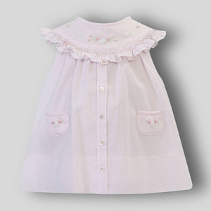 Pink Baby Dress with Hand Embroidery- Sarah Louise 012218