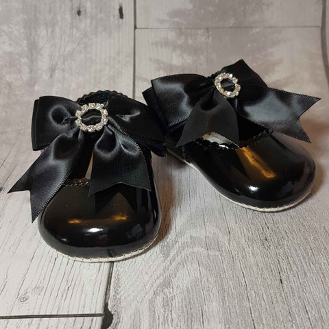 black pram shoes baby