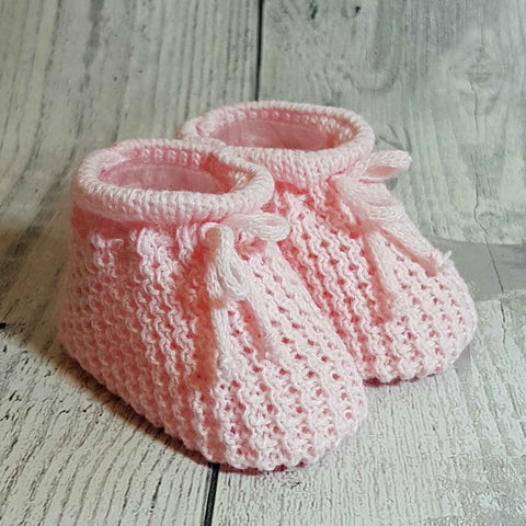 baby girl knitted booties