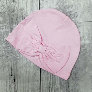 baby girl turban hat pink