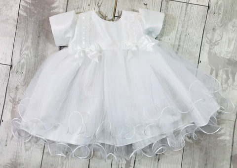 baby girl white christening baptism dress