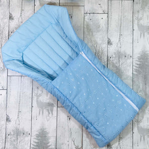 baby boy baby nest broderie anglaise blue