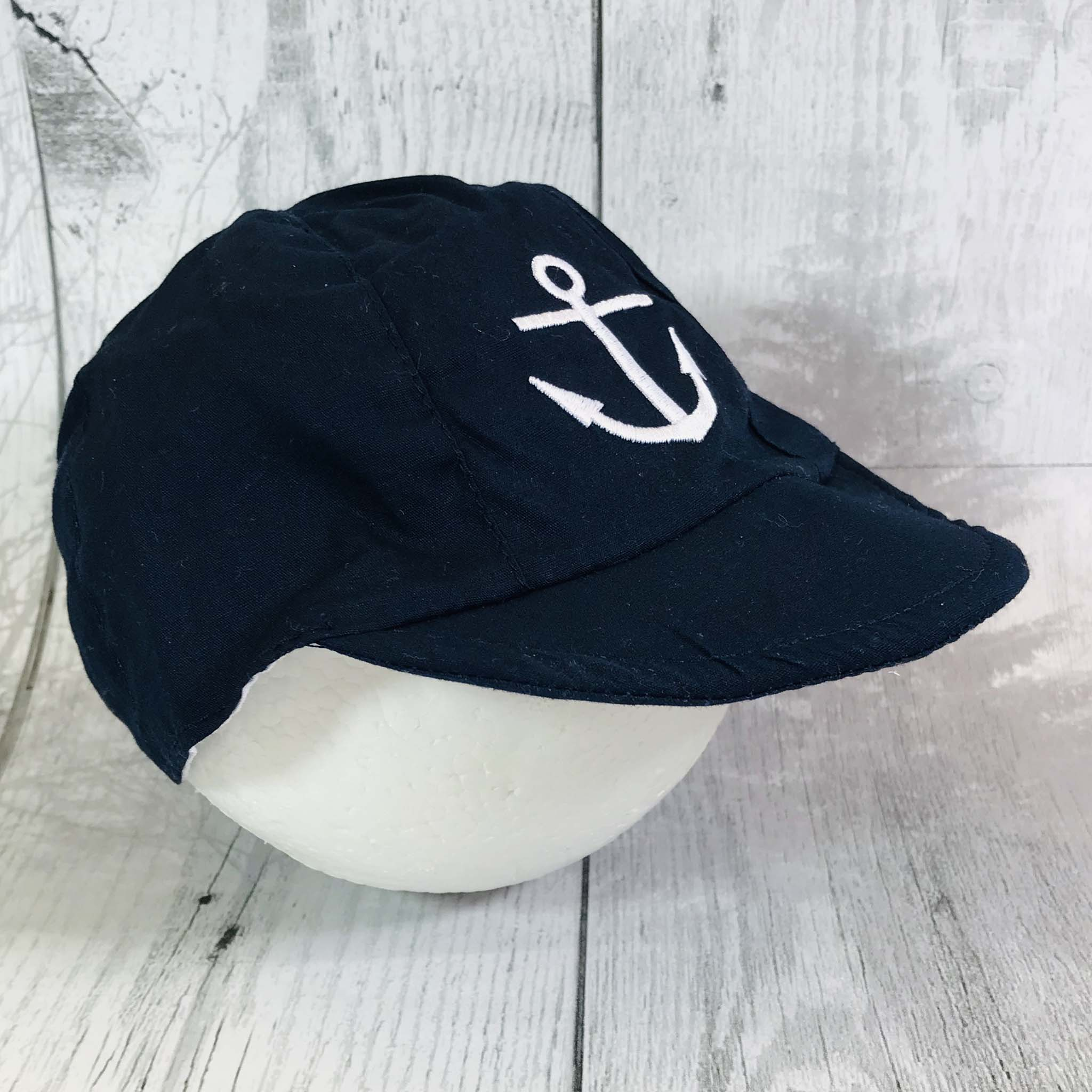 baby boys navy blue summer sailor sun hat traditional